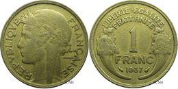 France - IIIe République - 1 Franc Morlon 1937 Faux D'époque - TB - Fra2841 - France