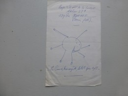 Peintre Roger Senot De La Londe, Dessin ORIGINAL Sur Lettre Autographe 1965 ; Ref 367VP38 - Autographs