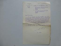 """Edouard LIZOP Propagande Universitaire  VICHY 1943, Lettre """"communauté De Races""""; Ref 361VP38 - Autographs"""