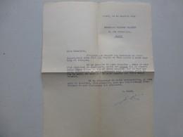 Edouard LIZOP Propagande Universitaire  VICHY 1944, Lettre  Av Autographe  ; Ref 366VP38 - Autographs