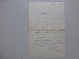 Edouard LIZOP Propagande Universitaire  Lettre Autographe à R. Charmet, Depuis Toulon  ; Ref 362VP38 - Autographs