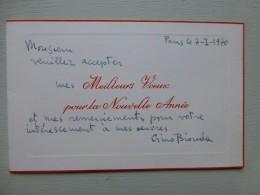GINO BIONDA, Peintre, ITALIE, Carte Autographe à Raymond Charmet, 1970 ; Ref 358VP38 - Autographs
