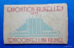 BRUXELLES - CARNET DEPLIANT 10 CARTES POSTALES DE L'EXPOSITION 1935 - Weltausstellungen