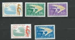 Uruguay - Aérien -  Série - Yvert N° 180 à 184     5   Valeurs **   -  Po58202 - Uruguay
