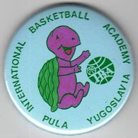 Basketball / Sport / Pin, Badges / International Basketball Academy IBA, Pula, Croatia Yugoslavia - Basketball