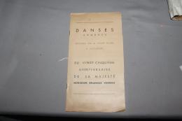 Programme Des Danses Khmeres 25 Anniversaire De Norodom Sihanouk  09 Novembre 1946  Avec Bristol CAMBODGE / INDOCHINE - Programs