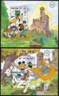 Bhutan,  Scott 2018 # 557-558,  Issued 1986,  2 S/S,  MNH,  Cat $ 12.00.  Disney - Bhutan