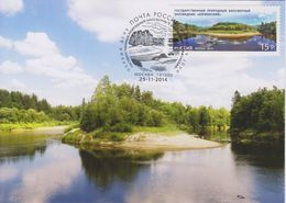 2110 Mih Russia 1893 11 2014 Maxi Cards 1 UNESCO Network Kerzhenskiy Natural Biosphere Reserve - Stamps