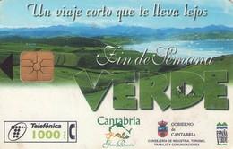 TARJETA TELEFONICA DE ESPAÑA USADA. 09.98 (321). CANTABRIA - Espagne