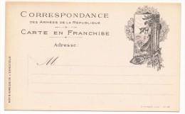 2 Cartes Franchise Militaire - Edition Privée (Farges à Lyon) - ALSACIENNE + Chasseur/Lion De Belfort - Military Service Stampless