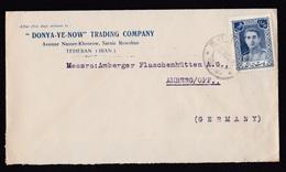 Iran: Old Cover To Germany, 1940s?, 1 Stamp, Shah, (minor Damage At Back) - Iran