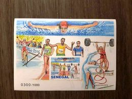 SENEGAL 2016 ¤ IMPERF ND IMPERFORATE ¤ OLYMPIC GAMES JEUX OLYMPIQUES RIO - SWIMMING CYCLING WEIGHTLIFTING ULTRA RARE MNH - Senegal (1960-...)