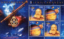 HONGRIE / Espace Mondiale De L'Astronomie Bloc 4 Valeurs Dentelée MNH Valeur 7.50 Euros Vente 3.00 Euros - Space