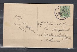 Postkaart Van Arlon Naar Anvers Bodange Hotel De La Gare - 1915-1920 Albert I