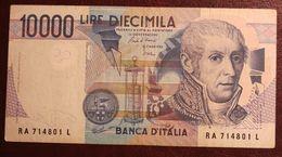 BANCONOTA DA 10.000 LIRE A. VOLTA LETTERA (A) REP. ITALIANA - - [ 2] 1946-… : République