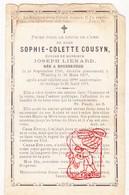 DP Sophie C. Cousyn ° Roesbrugge Poperinge 1789 † Wervik Wervicq 1877 X Joseph Lienard - Devotion Images