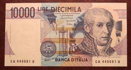 BANCONOTA DA 10.000 LIRE A. VOLTA LETTERA (A) IN FDS REP. ITALIANA - - [ 2] 1946-… : République