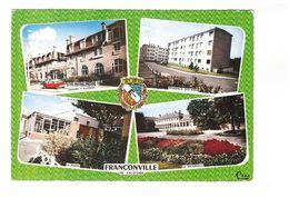 95 Franconville Carte 4 Vues Groupe Buisson Résidence Des Prés Poste PTT Maternelle Citroen DS + Blason CPSM GF - Franconville