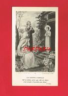 Image Religieuse & Pieuse ... La Sainte Famille ... Edit ; MOREL De GERVAL ... 592 ... écrite En 1921 ... - Devotion Images