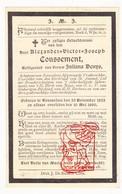 DP Schepen & Bijg. Vrederechter - Alexander V. Coussement ° Roeselare 1822 † 1890 X J. Denys - Devotion Images