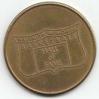 Basketball / Sport / Medal / NAISMITH MEMORIAL BASKETBALL HALL OF FAME / Springfield / Souvenir Token Coin - Apparel, Souvenirs & Other