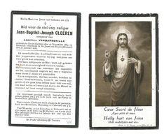 882. JEAN-B.-J;  CLEEREN Echtg. L. Vanmarsenille - °GROOT-GELMEN 1884 / +ST-JOOST-TEN-NOODE (Brussel) 1923 - Devotion Images