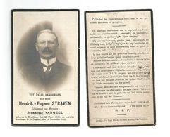 884.HENDRIK-EUGEEN STRAVEN  Echtg. J. Vangeel - °BRUSTEM 1856 / +ST-TRUIDEN 1921 - Devotion Images