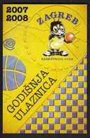 Croatia Zagreb / Basketball Club Zagreb / Year Season 2007 2008 Ticket - Tickets - Vouchers