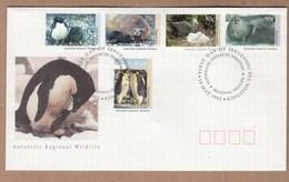 AAT FDC 1992 Antarctic Regional Wildlife -  Penguins And Seals - Face Value $4.20 - Penguins
