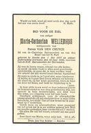 886. MARIA-CATHARINA WELLEMANS - Lid Christ. Huismoeders - °ASSCHE 1877 En Aldaar + 1935 - Devotion Images