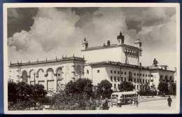 Unbekannte Russische Stadt, Staatsgebäude?, Autobus, Gel.um 1940. - Russland