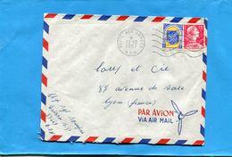 Marcophilie-lettre Guerre D'algérie  FM ->France -cad-poste Aux Armées Sp 87669-1957-2 Stamp 30 Pour  P A - Marcophilie (Lettres)