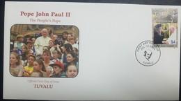 O) 2005 TUVALU, POPE JOHN PAUL II AND QUEEN ELIZABETH II-SCOTT A192, FDC XF - Tuvalu