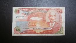 MALAWI 5 KWACHA 1986 - Malawi