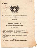 1868  DECRETO COL QUALE E' SCIOLTA LA CAMERA DI COMMERCIO LIVORNO - Decreti & Leggi