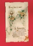 Image Religieuse & Pieuse & Généalogie Communion De Louise PRUNIER En 1900 Eglise St Pierre TINCHEBRAY Bouasse Jeune 65 - Devotion Images