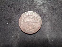 Rare 5 Centimes Dupré L'an 5 A Avec Different - France