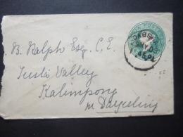 India QV Prepaid Half Anna Postmark DAGSHAI / KALIMPONG 1903 - India