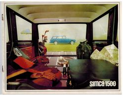 SIMCA 1500 BREAK CATALOGUE 6 PAGES 1965 Format 27 X 21 FRANCE - Advertising