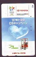 Télécarte JAPON * TOYOTA (1389)  * Phonecard JAPAN * VOITURE * Auto CAR * TELEFONKARTE * - Auto's