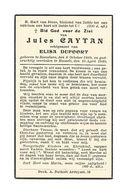 891. JULES CAYTAN  Echtg. E. Dufoort - °ROESELAERE 1889 / +HASSELT 1940 - Devotion Images