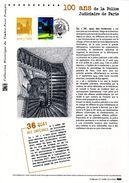 """"""" 100 ANS DE LA POLICE JUDICIAIRE """" Sur Document Philatélique Officiel 1er Jour De 2013 N° YT 4796 - Police - Gendarmerie"""