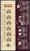 Année 1988 - N° 2526A - T-P N° 2526 X 6 - Voitures Postales : Voiture Montée - Giornata Del Francobolli