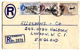 Lettre Recommandée De Sumbuya_Sierra Leone (09.11.1958) Pour London - Sierra Leona (...-1960)