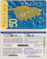 328/ Corsica; The Map Of The Island - Frankreich