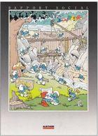 Er1.w- PEYO Les SCHTROUMPFS  Rapport Social ALSTHOM 1986. Brochure Triptique Illustrée - Books, Magazines, Comics