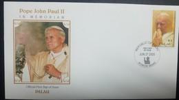 O) 2005 PALAU, POPE JOHN PAUL II-1920 -2005, SCOTT A249, FDC XF - Palau