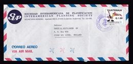 Guatemala: Airmail Cover To Netherlands 1991, 1 Stamp, Bird Playing Baseball, Sports (roughly Opened) - Guatemala
