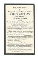 893. ADRIEN COEMANS - Notaire  / Chevalier L'Ordre Léopold - °ST-TROND 1860 / +LUMMEN 1925 - Devotion Images