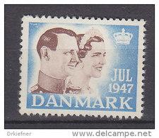 Dänemark, Julen 1947, Weihnachten, Reklamemarke, Julemaerket, - Vignetten (Erinnophilie)